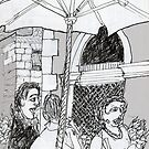Italy-A Snack Bar in Firenze by James Lewis Hamilton
