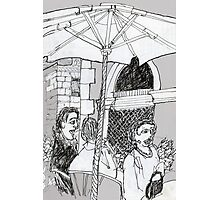 Italy-A Snack Bar in Firenze Photographic Print