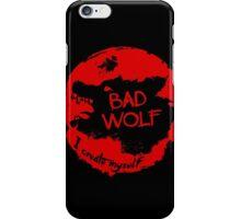 Bad Wolf - I Create Myself - Grunge Artwork iPhone Case/Skin