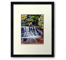 Cascades, Blue Mountains Framed Print