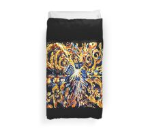 Big Bang Attack Exploded Flamed Phone booth painting Duvet Cover