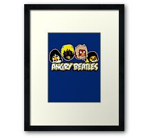 Angry Birds Parody- Angry Beatles Framed Print