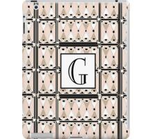 1920s Pink Champagne Gatsby Monogram letter G iPad Case/Skin