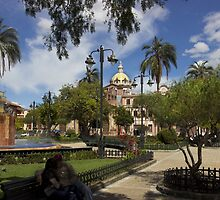 San Blas Park, Cuenca, Ecuador by Al Bourassa