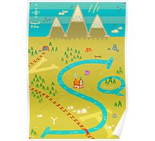 Font Mountains Poster