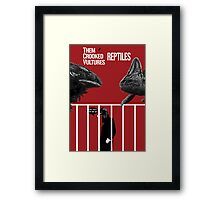 Them Crooked Vultures - Reptiles Framed Print