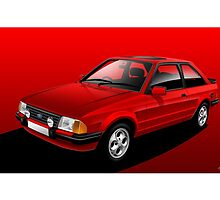 Poster artwork - Ford Escort XR3i by RJWautographics