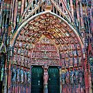 Notre Dame Cathedral, Strasbourg, Alsace, France by Rosemary Sobiera