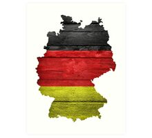 Germany Flag Map Art Print