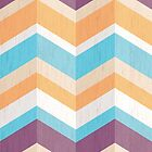 A Day at the Beach Chevron Pattern by Lisa Marie Robinson