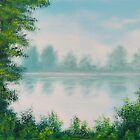 Classic River Scene Landscape by ArmstrongArt