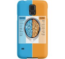 Human brain left and right functions Samsung Galaxy Case/Skin