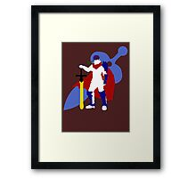 Super Smash Bros Ike (White) Framed Print