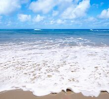 Wave on the sandy beach by ellensmile