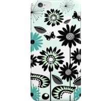Cute flowers, leaves, butterflies and stripes iPhone Case/Skin
