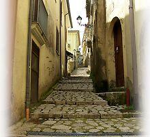 Medieval alley in Mercogliano, Province of Avellino, Campania, Italy by Rachel Veser