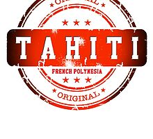 TAHITI  Island Logo Stamp  by dejava