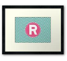 Chevron Letter R Framed Print