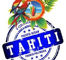 TAHITI Original Summer Beach by dejava