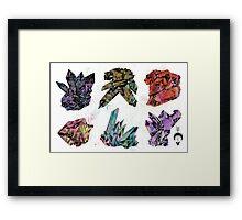 6 Crystals Framed Print