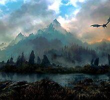 Dragon Mountain by kermekx