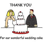 Thank you for our wonderful wedding cake. by KateTaylor