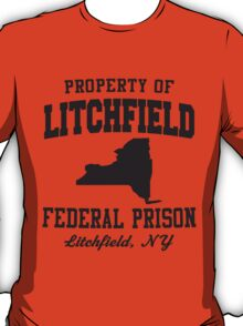Property Of Litchfield Federal Prison T-Shirt