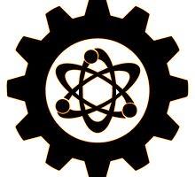 Technomage Industries Steampunk Cog - neon orange outline by aromis