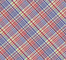 Red Green Blue and White Plaid Fabric Background by KWJphotoart