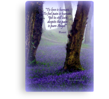 Bluebells and Rumi Canvas Print