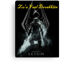 Skyrim: Zu'u Faal Dovahkiin (I am The Dragonborn) Canvas Print
