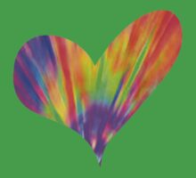 Cool Tie-Dye Heart Kids Clothes