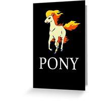 Ponyta Ralph Lauren dark Greeting Card