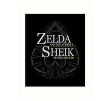 Zelda in the Streets Art Print