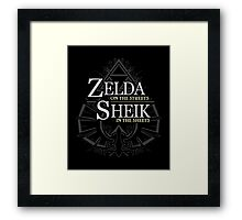Zelda in the Streets Framed Print