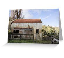 tin shed Greeting Card