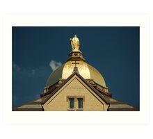 Golden Dome-University of Notre Dame Art Print