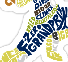 Captain Falcon Typography - Justice is Served! Sticker
