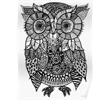 Zentangle Owl Poster