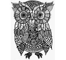 Zentangle Owl Photographic Print