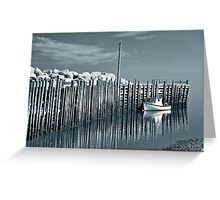 Margaretsville Wharf - selective color Greeting Card