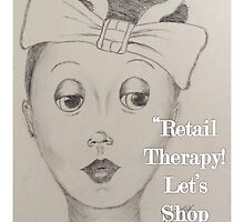 Retail Therapy Get Well Card by thatartplace