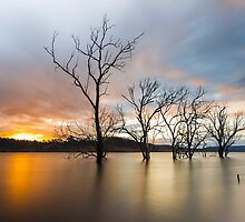 Wyaralong Dam Sunset by McguiganVisuals