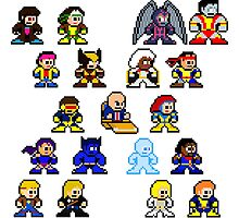 8-bit 90's X-Men by groundhog7s