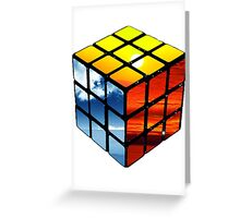 Rubiks Cube Greeting Card
