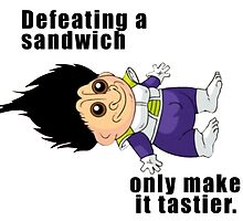 Defeating a Sandwich. by Lord-Olga