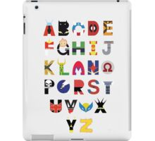 marvel superhero alphabet iPad Case/Skin
