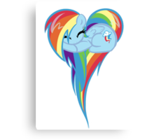 Heart Of Rainbow Dash Canvas Print