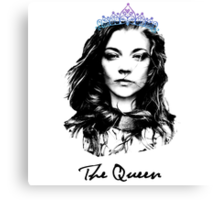 Natalie Dormer / The Queen Canvas Print