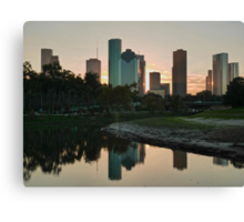 Reflections of Houston Canvas Print